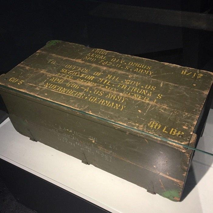 Аутентичні скрині, в яких зберігалися докази для Нюрнберзького процесу