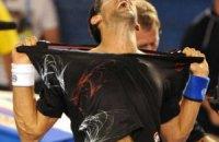 Джокович снова показал стриптиз на публике