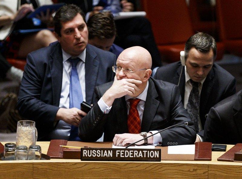 Василь Небензя під час засідання Ради Безпеки ООН