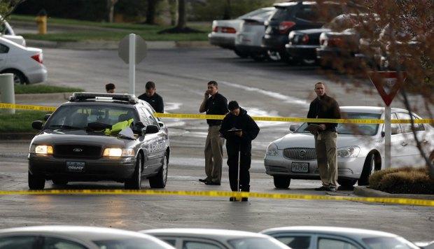 Полиция на месте убийства в Канзасе