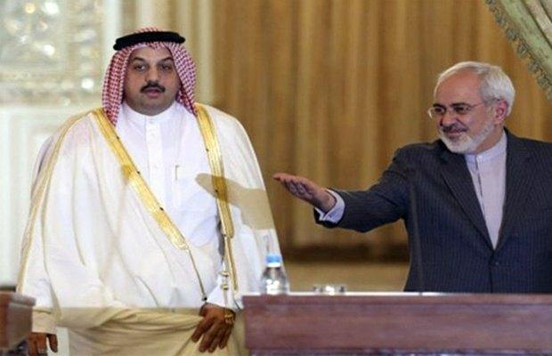 Первая встреча министров иностранных дел Ирана Мохаммада Джавад Зарифа и Катара шейха Тамам-бин Хамад Аль-Тани с 2015 года прошла в Дохе, 09 марта 2017