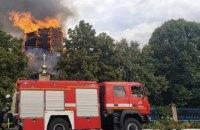 В Донецкой области произошел пожар в Свято-Петропавловской церкви
