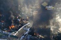 На Грушевського підпалили шини, активісти підтягуються до барикади (трансляція)