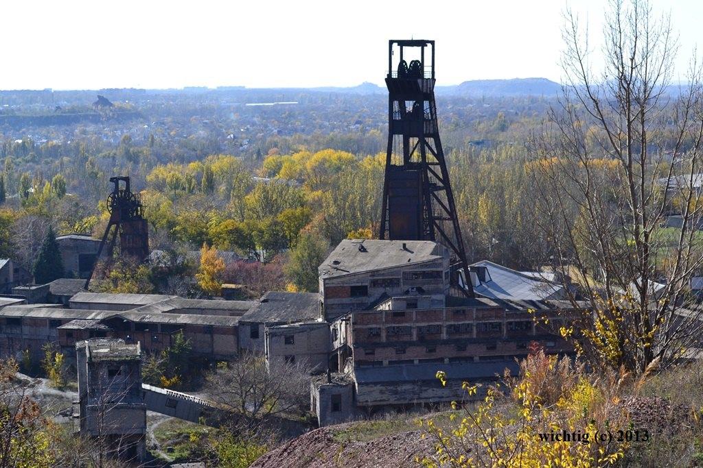 Закинута Шахта № 17-17бис в Кіровському районі Донецька