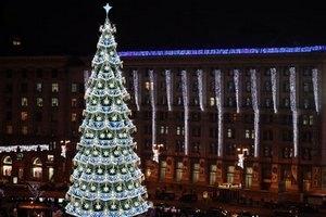 Сегодня на Майдане зажгут елку в тестовом режиме