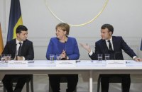 Офіс президента планує організувати розмову Зеленського, Макрона та Меркель