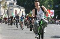 В День Киева горожане устроили массовый велопробег