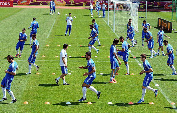 Збірна Греції під час тренування