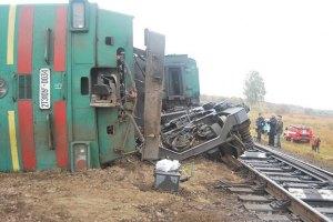 В Крыму сошел с рельс грузовой поезд