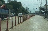У Києві через аварію на водогоні затопило вулицю Антоновича біля Ocean Plaza