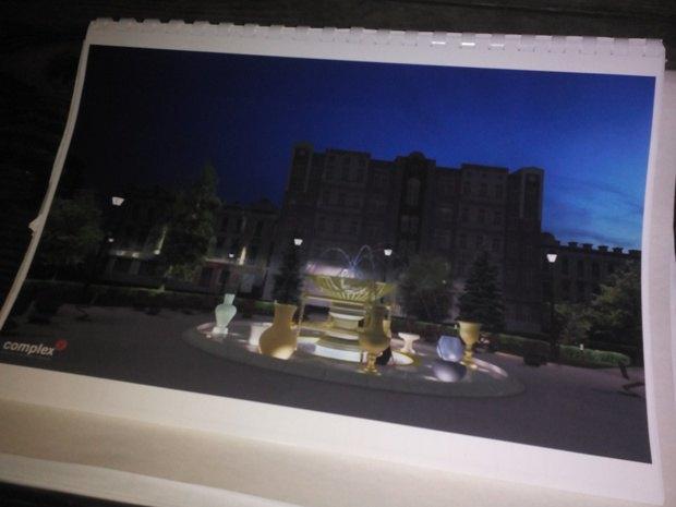 Таким планировали сделать фонтан на Контрактовой площади