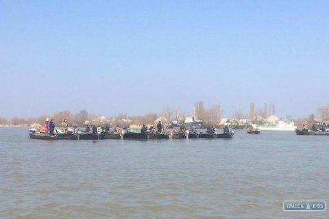 Рибалки у Вилковому перекрили Дунай під час акції протесту