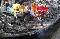 23 человека погибли из-за пожара на пароме в Индонезии