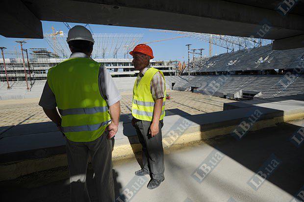 Львівський стадіон на стадії будівництва до Євро-2012