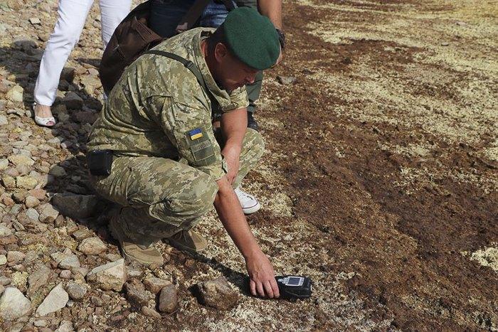 Во время работы межведомственной рабочей группы по определению экологической ситуации на территории Херсонской области, 5 сентября 2018.