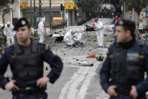 У здания Нацбанка Греции в Афинах произошел взрыв