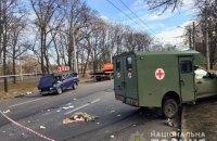 Три людини постраждали в ДТП з санітарним автомобілем і легковиком ВАЗ у Харкові