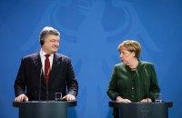 Порошенко обсудил с Меркель итоги ее переговоров с Путиным
