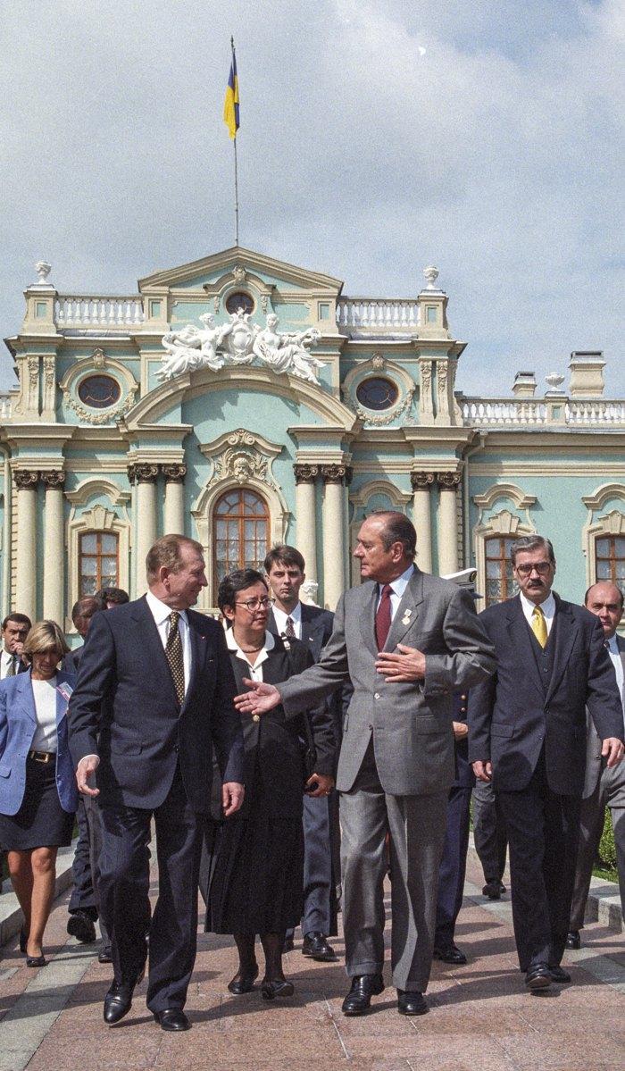 Леонід Кучма з президентом Франції Жаком Шираком у Києві 2 вересня 1998 року