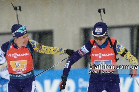 Украинкам не хватило пяти секунд в борьбе за бронзу в эстафете на Кубке мира по биатлону