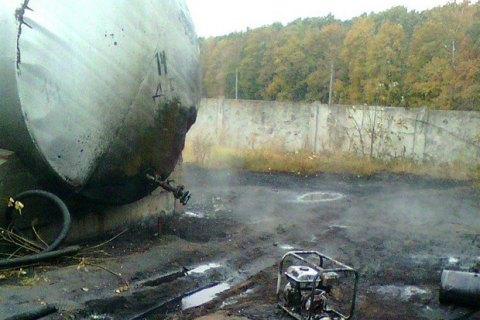 В Полтавской области горела нефтебаза