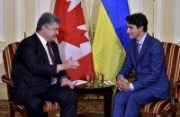 Мы чувствуем плечо Канады в сфере безопасности и оборонной политике, - Порошенко