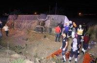 У Туреччині перекинувся автобус: 6 загиблих, 43 поранених