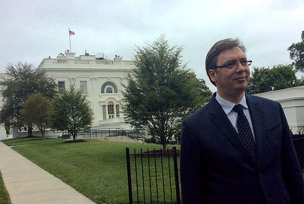 Вучич во время визита в США в 2017