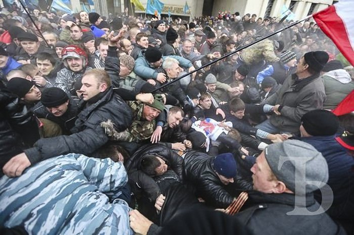Столкновения во время митингов