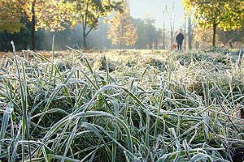 В четверг ночные заморозки до -5 градусов накроют восток и центр Украины