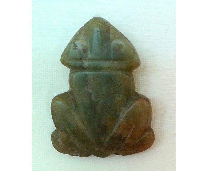 Амулет в форме лягушки, культура Сантарем, ок. 1000-1400 н.э.