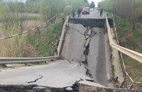Укравтодор обіцяє оперативно та якісно відбудувати міст, який обвалився на Львівщині