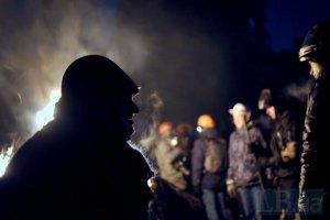 На Грушевского количество активистов сократилось до около 150 человек