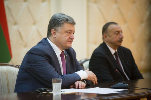 Порошенко та Алієв не використовували російську мову на прес-конференції