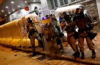 Полиция Гонконга применила против демонстрантов резиновые пули
