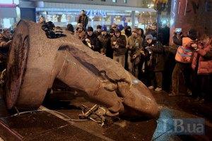 Лишь 13% жителей Киева позитивно отнеслись к сносу памятника Ленину