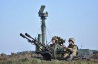 Военные показали боевые стрельбы из ЗРК в Херсонской области