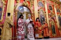 В отреставрированной Андреевской церкви состоялось первое богослужение