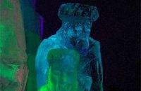 В Австрии установили ледяную скульптуру Рождества