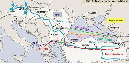 Проекты газопроводов в Европе. Источник: europeanenergyreview.eu