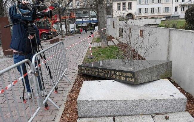 Зруйнований меморіал у Страсбурзі