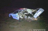 Біля Дубровиці BMW X5 відправив у кювет поліцейське авто