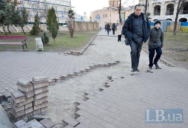 Текущее состояние сквера созле памятника Сагайдачному
