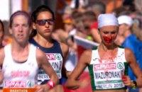 Переможниця марафону на чемпіонаті Європи білоруска Мазуренок бігла з закривавленим обличчям (оновлено)