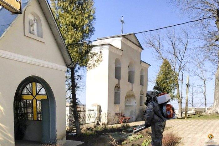 Дезінфекція в населених пунктах Монастириського району