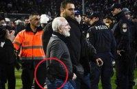 Российский бизнесмен Саввиди с пистолетом прервал футбольный матч в Греции