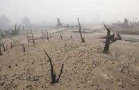 У Бурятії через падіння з літака бойової машини другу добу горить ліс
