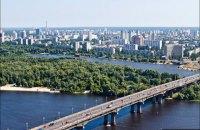 Під час гідравлічних випробувань знову прорвало трубу на мосту Патона в Києві