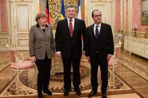 На Банковой началась встреча Меркель, Олланда и Порошенко