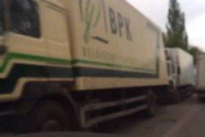 У границы с ДНР задержали еще 50 машин с продуктами